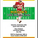 Chiefs Colored Football Birthday Party Invitation