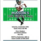 Eagles Colored Football Birthday Party Invitation