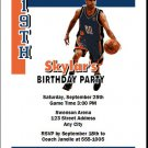 Charlotte Bobcats Colored Basketball Party Invitations