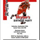 Chicago Bulls Colored Basketball Party Invitations