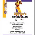 LA Lakers Colored Basketball Party Invite