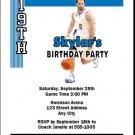 Orlando Magic Colored Basketball Party Invite