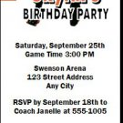 Charlotte Bobcats Colored Basketball Party Ticket Invitations