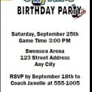 Golden State Warriors Colored Basketball Party Ticket Invitations