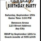 San Antonio Spurs Colored Basketball Party Ticket Invitations