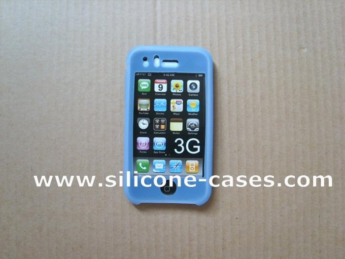 iphone silicone case baby blue