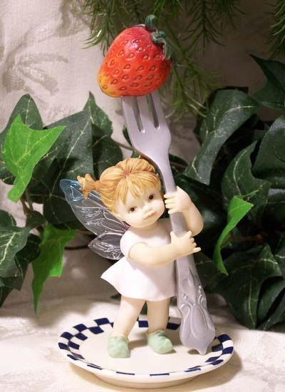 Kitchen Fairy Holding Fork