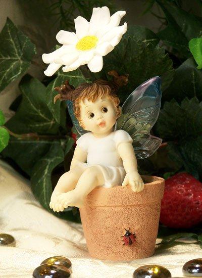 Kitchen Fairy on Sunflower Pot