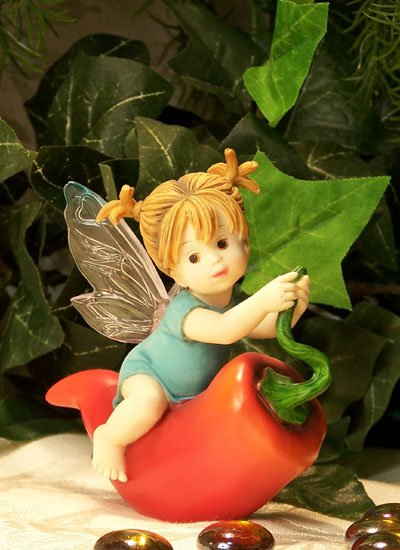 Kitchen Fairy with Chili Pepper