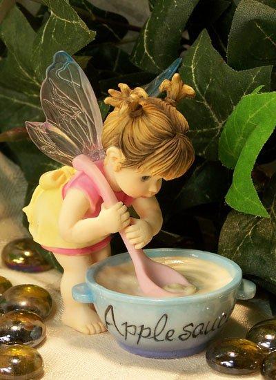 Kitchen Fairy Stirring Applesauce