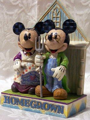 Jim Shore Mickey & Minnie Homegrown