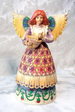 Jim Shore Heartwood Creek Angel with Mixing Bowl