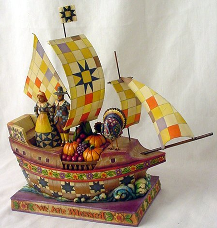 Jim Shore Pilgrim Bountiful Vessel