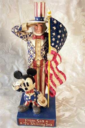 Jim Shore Disney American Originals Mickey & Uncle Sam