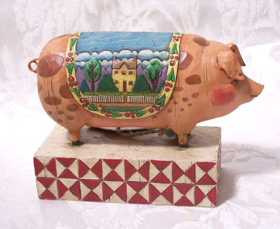 Jim Shore Heartwood Creek Pig
