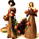 Set of Two Pilgrims With Metal Basket Base
