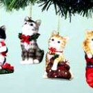 Cat Ornaments Set of 6 Assorted