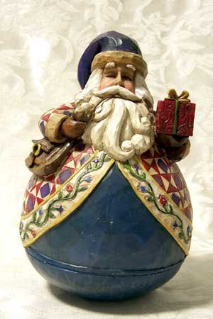 Jim Shore Roly Poly Santa With Gift
