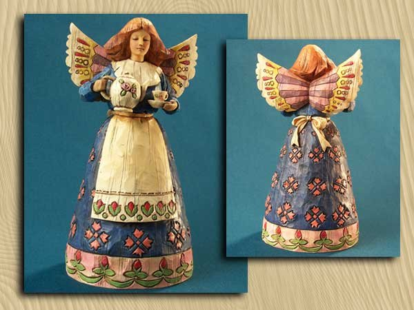 Jim Shore Angel with Teapot