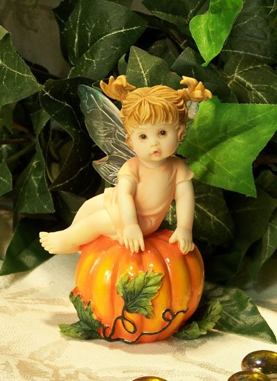 Kitchen Fairy on Pumpkin