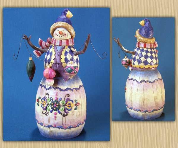 Jim Shore Snowman with Ornaments