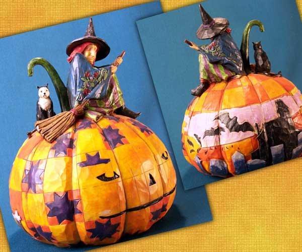 Jim Shore Witch on Pumpkin
