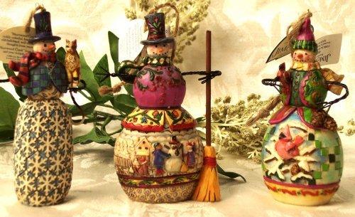 Jim Shore Set of 3 Snowmen Ornaments