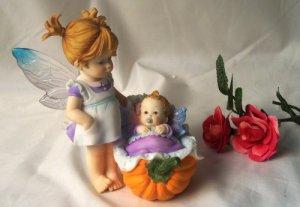 Kitchen Fairy Baby In Pumpkin