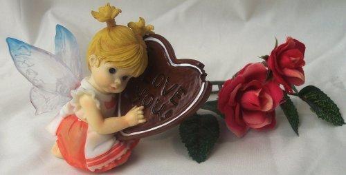 Kitchen Fairy Holding Heart I Love You