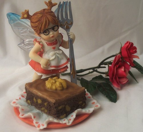 Kitchen Fairy with Fork & Brownie