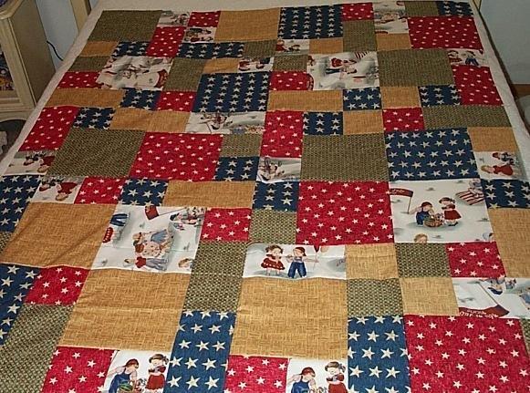 Scrappy Quilt Top 48 x 60