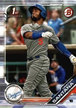 2019 Bowman Prospects BP134 - Cristian Santana, Los Angeles Dodgers