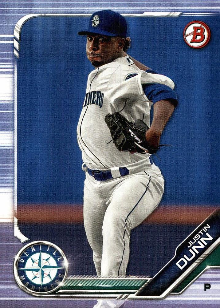 2019 Bowman Prospects BP3 - Justin Dunn, Seattle Mariners