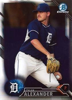 2016 Bowman Chrome Prospects BCP235 - Tyler Alexander, Detroit Tigers