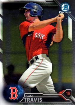 2016 Bowman Chrome Prospects BCP229 - Sam Travis, Boston Red Sox