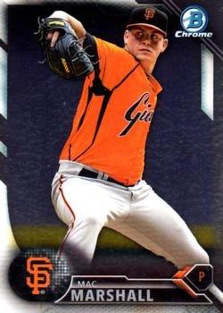 2016 Bowman Chrome Prospects BCP205 - Mac Marshall, San Francisco Giants