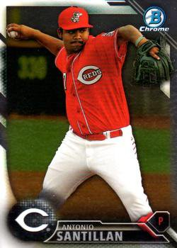 2016 Bowman Chrome Prospects BCP177 - Antonio Santillan, Cincinnati Reds