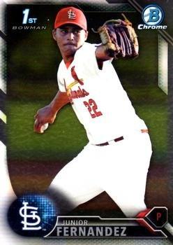 2016 Bowman Chrome Prospects BCP176 - Junior Fernandez, St. Louis Cardinals