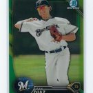 2016 Bowman Chrome Prospects Green Refractors BCP232 - Isan Diaz, Milwaukee Brewers