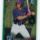 2016 Bowman Chrome Prospects Green Refractors BCP180 - Andrew Stevenson, Washington Nationals