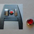 STAR TREK TOS PHASER PROP METAL P1 BEZEL &  RED JEWEL / PART