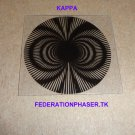 """STAR TREK COMMUNICATOR KAPPA STYLE PATTERN MOIRE PRINTED ON 0.020"""" THICK CLEAR PLASTIC"""
