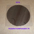 "STAR TREK COMMUNICATOR IOTA STYLE PATTERN MOIRE PRINTED ON 0.020"" THICK CLEAR PLASTIC"