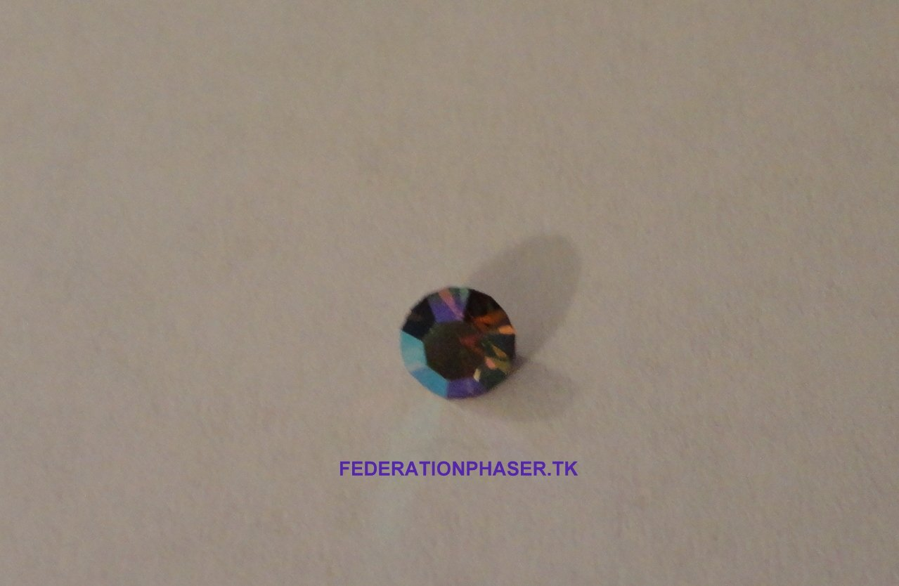 STAR TREK COMMUNICATOR SWAROVSKI POINTED BACK RHINESTONE! / COLOR BLACK DIAMOND AB / 8 FACET / 20SS