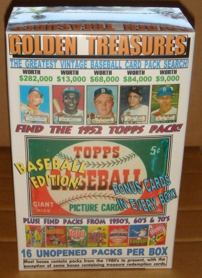 1952 TOPPS PACK SEARCH! MICKEY MANTLE ?  16 WAX, RACK OR CELLO PACKS BOX