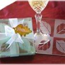 Fall In Love Leaf Glass Coaster Wedding Favors Set