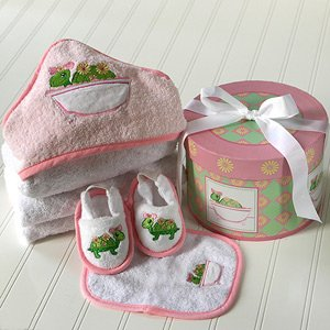 Baby BathTime Gift Set in Hat Box - Tillie the Turtle