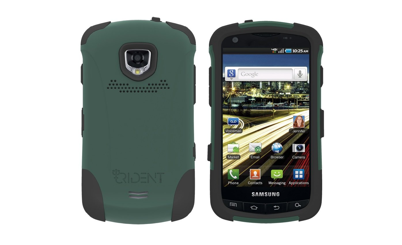 TRIDENT Green AEGIS Case for Samsung DROID CHARGE i510 Hybrid SKIN + HARD Cover + Screen Protector
