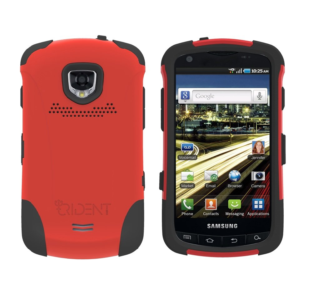 TRIDENT Red AEGIS Case for Samsung DROID CHARGE i510 Hybrid SKIN + HARD Cover + Screen Protector