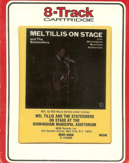 Mel Tillis On Stage At The Municipal Auditorium in Birmingham RCA Sealed 8-track tape